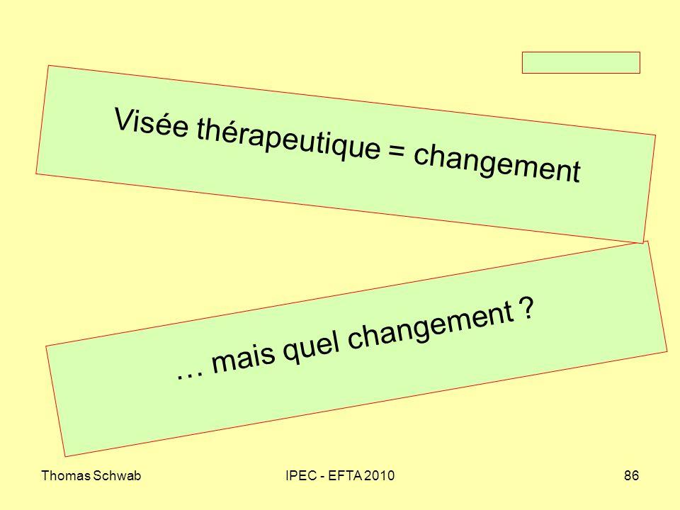 Visée thérapeutique = changement