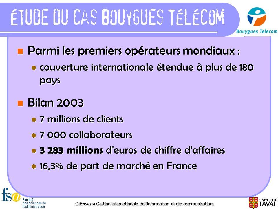 Étude du cas Bouygues Télécom