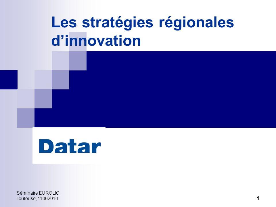 Les stratégies régionales d'innovation