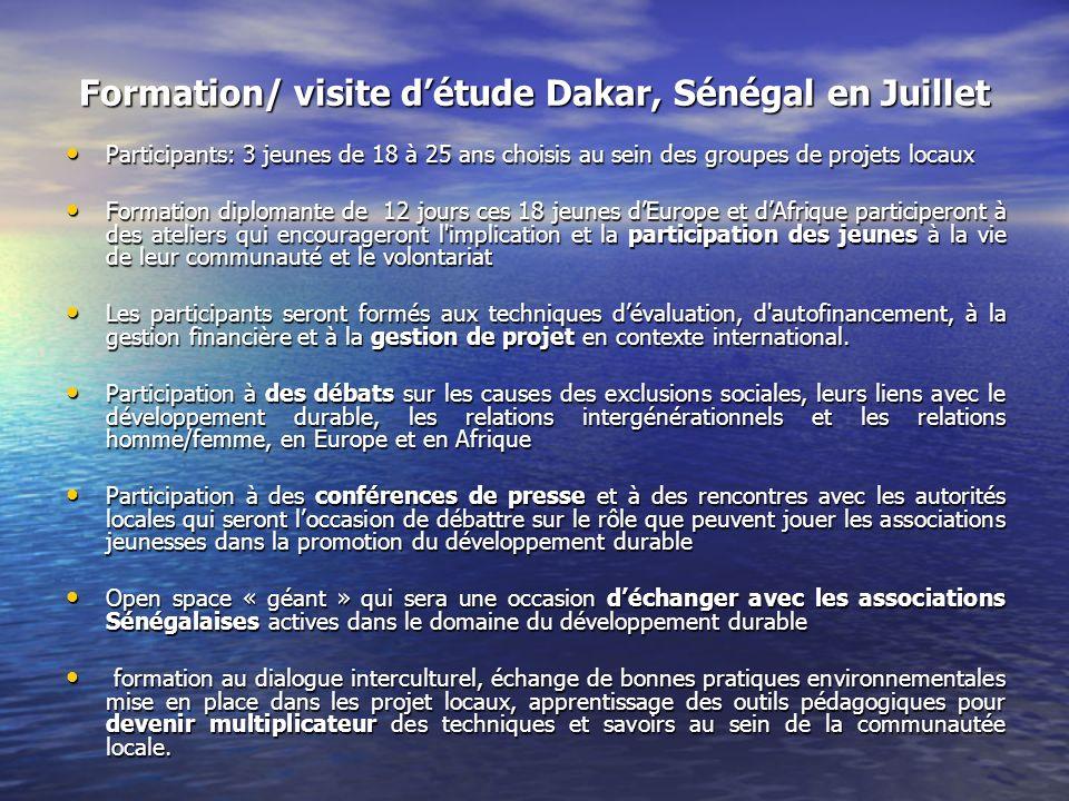 Formation/ visite d'étude Dakar, Sénégal en Juillet