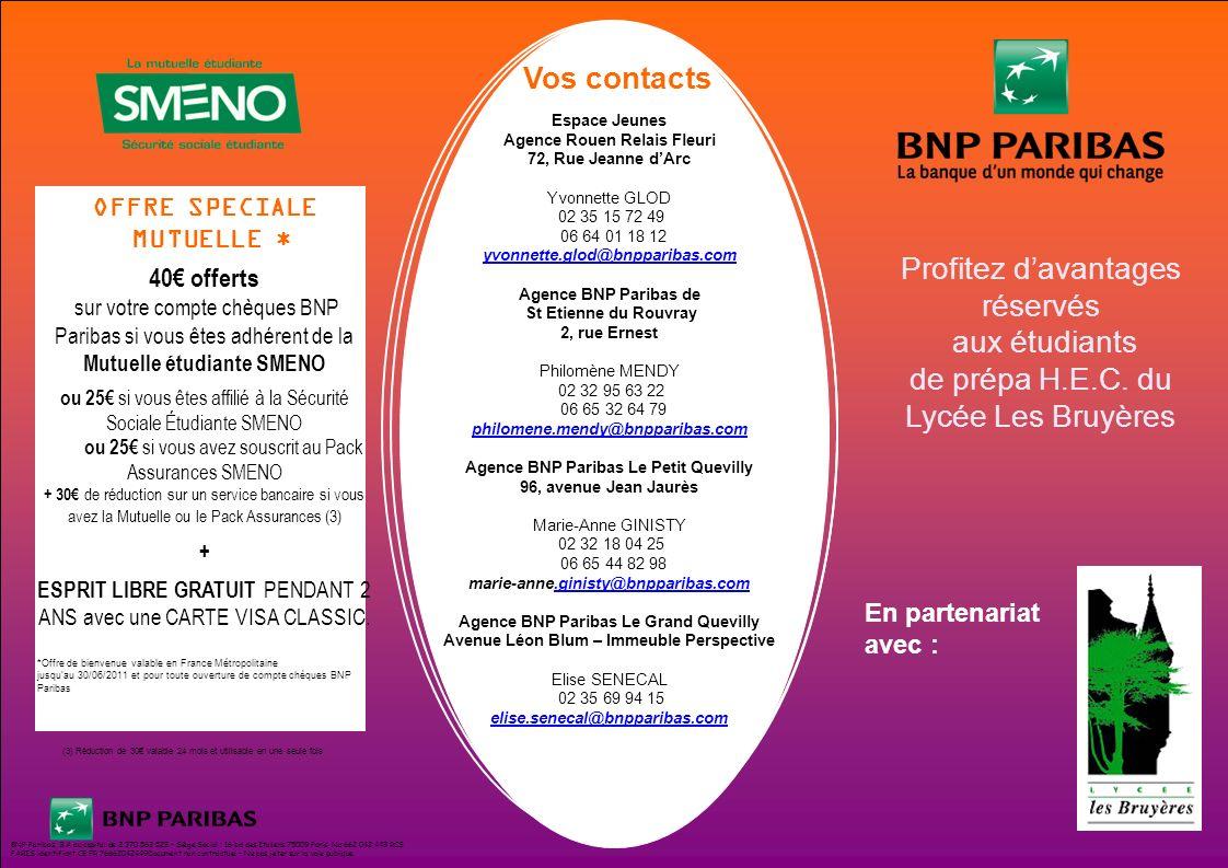 Profitez d avantages r serv s aux tudiants ppt t l charger - Bnp paribas siege social ...
