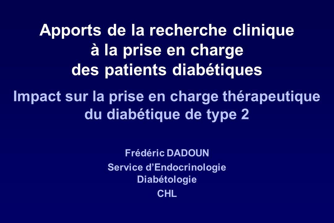 Frédéric DADOUN Service d'Endocrinologie Diabétologie CHL