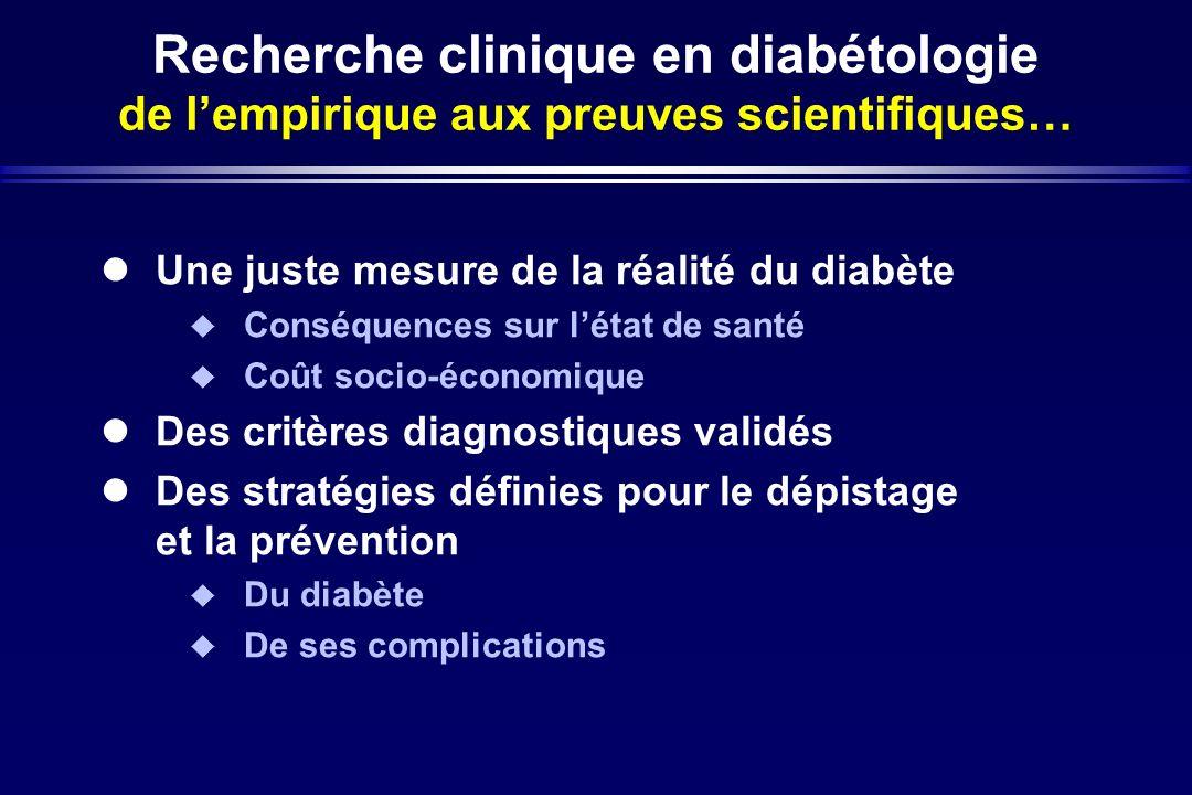 Recherche clinique en diabétologie de l'empirique aux preuves scientifiques…
