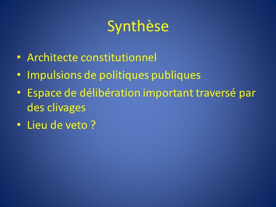 Synthèse Architecte constitutionnel Impulsions de politiques publiques