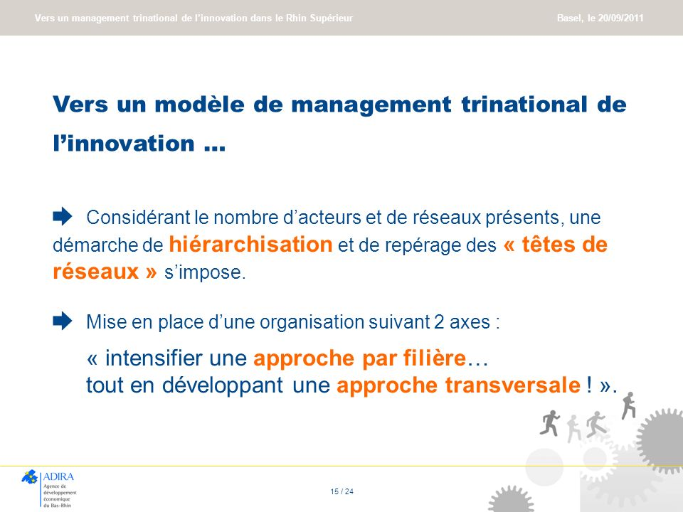 Vers un modèle de management trinational de l'innovation …