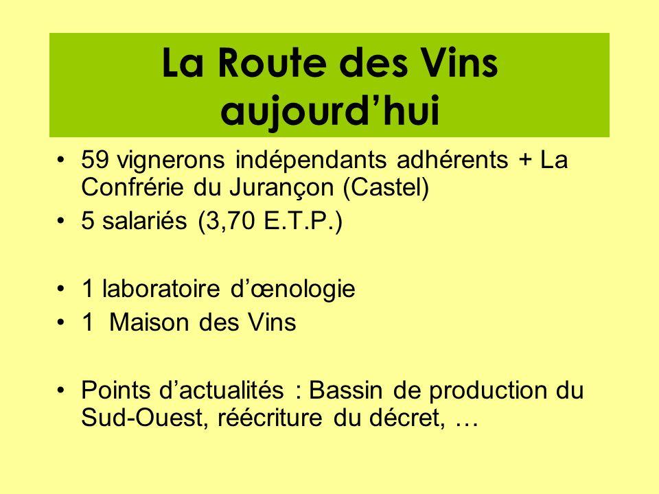 La Route des Vins aujourd'hui