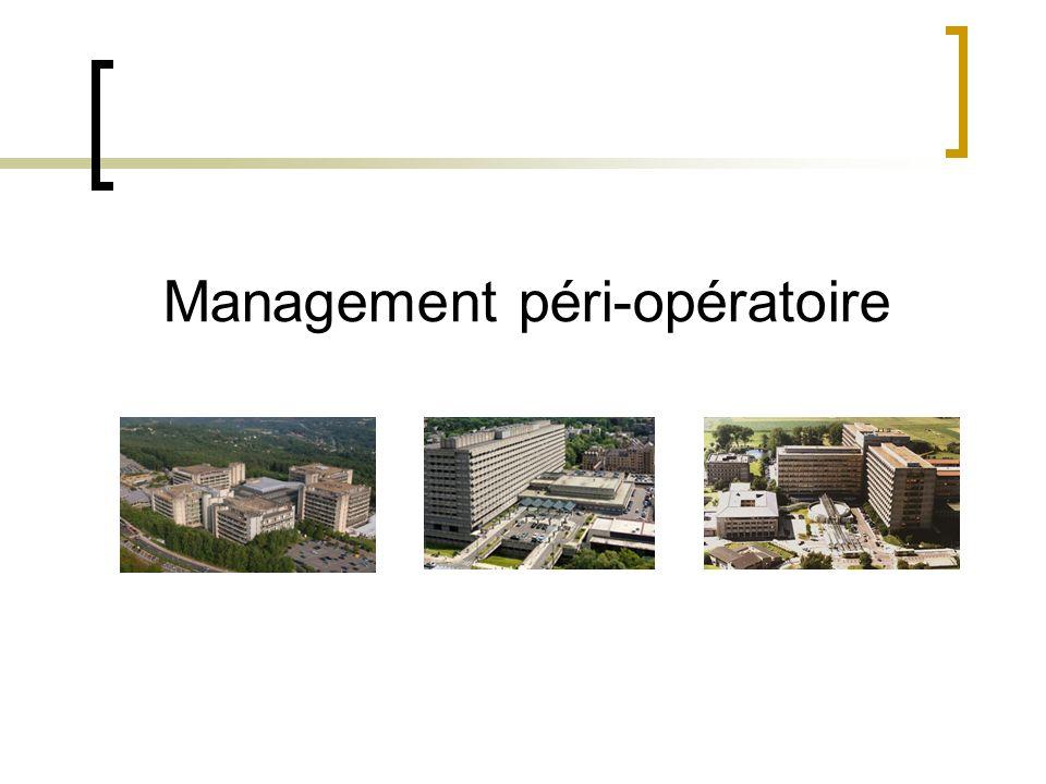Management péri-opératoire