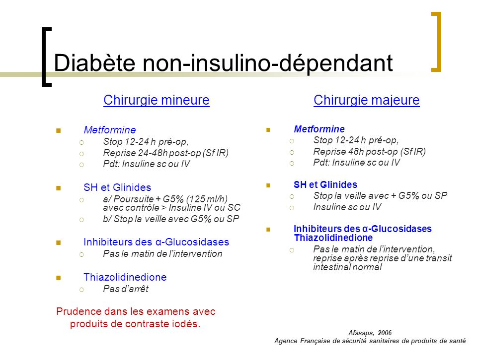 Diabète non-insulino-dépendant