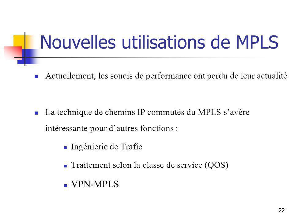 Nouvelles utilisations de MPLS