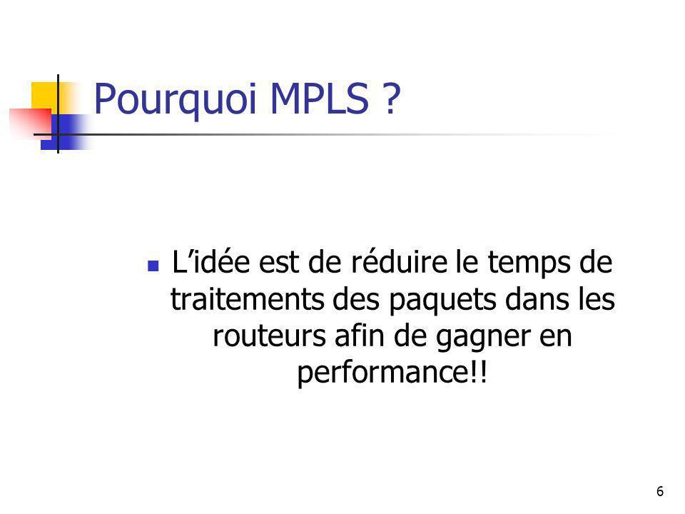 Pourquoi MPLS .