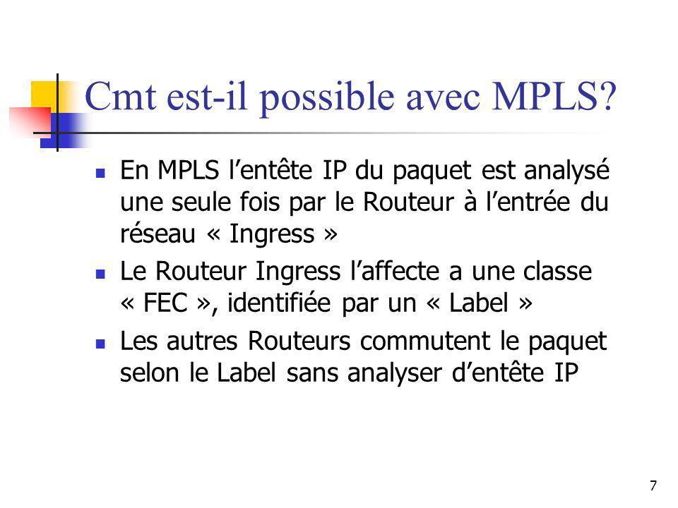 Cmt est-il possible avec MPLS