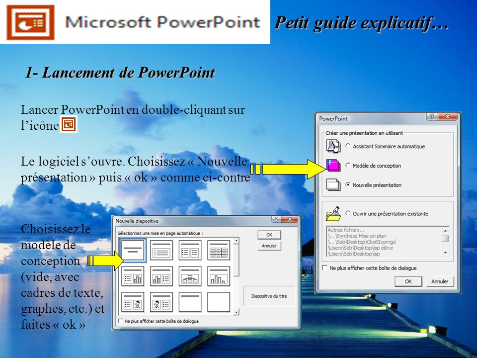 1- Lancement de PowerPoint