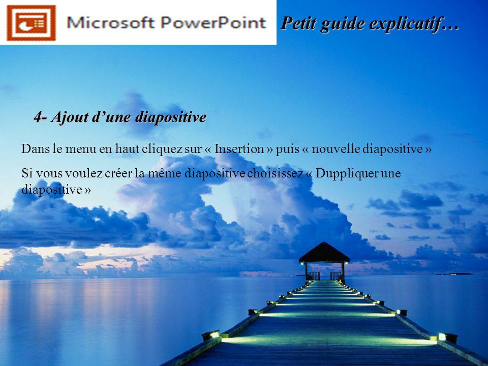 4- Ajout d'une diapositive
