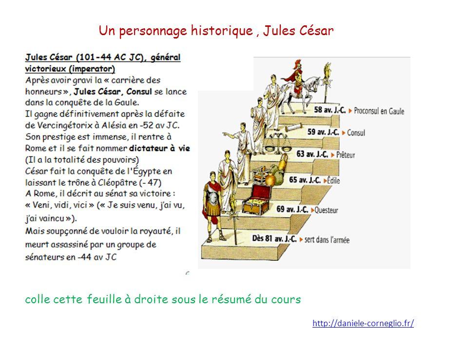 Un personnage historique , Jules César