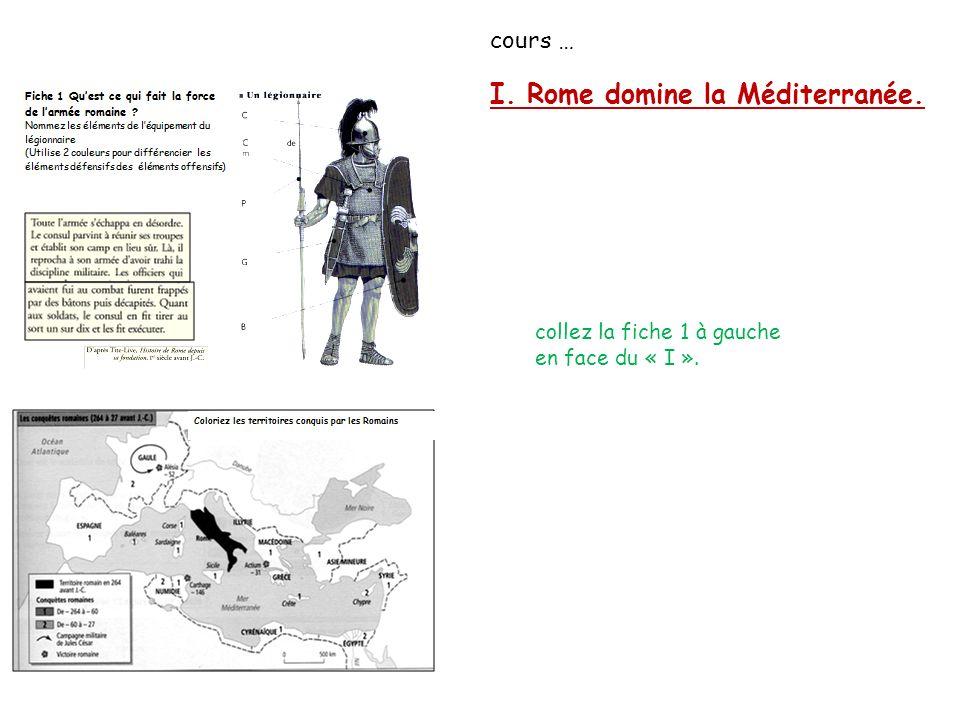 I. Rome domine la Méditerranée.