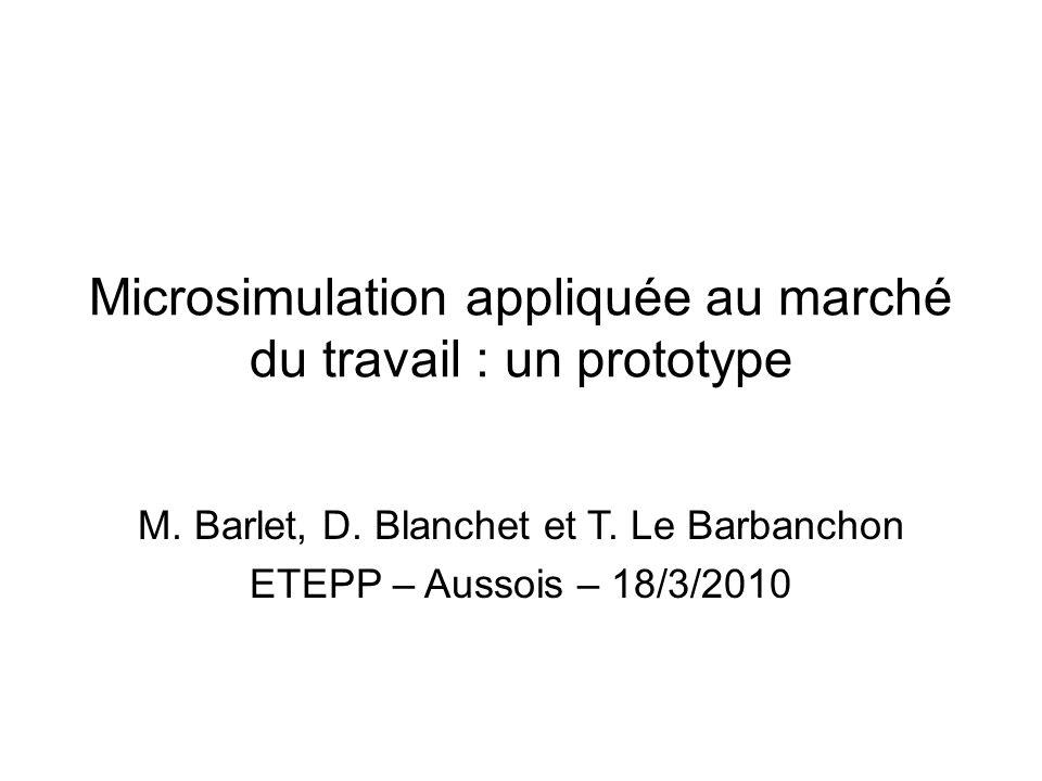 Microsimulation appliquée au marché du travail : un prototype