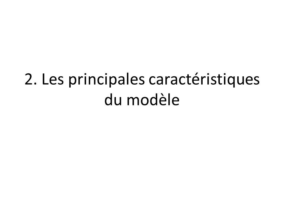 2. Les principales caractéristiques du modèle