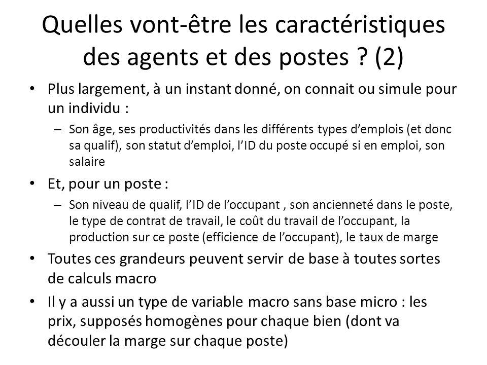 Quelles vont-être les caractéristiques des agents et des postes (2)