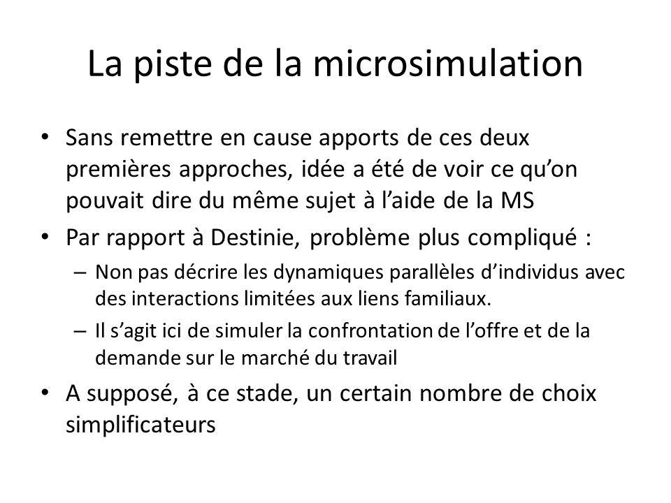 La piste de la microsimulation