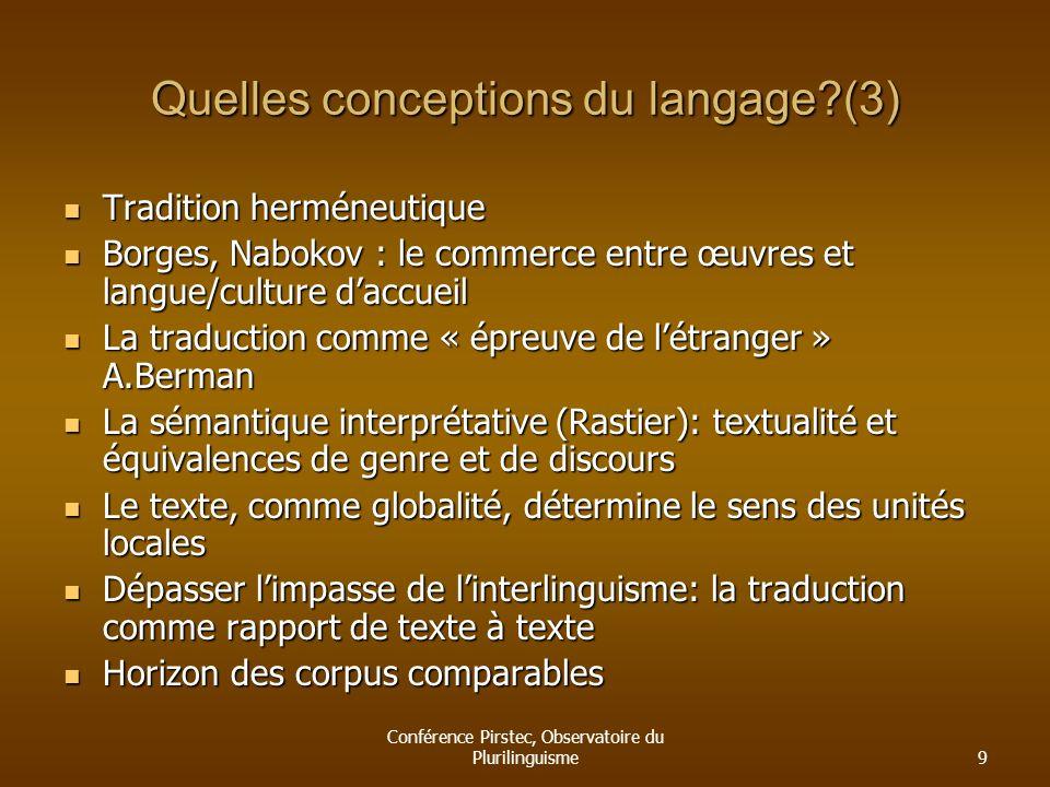 Quelles conceptions du langage (3)