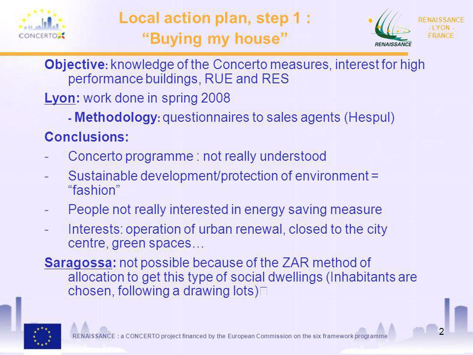 Local action plan, step 1 :