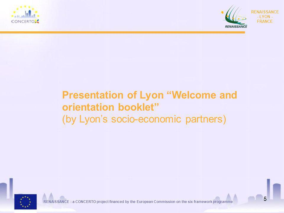 Presentation of Lyon Welcome and orientation booklet