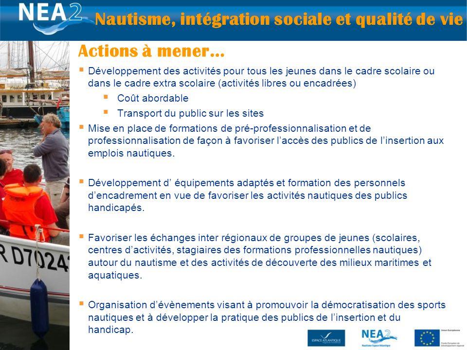 Nautisme, intégration sociale et qualité de vie