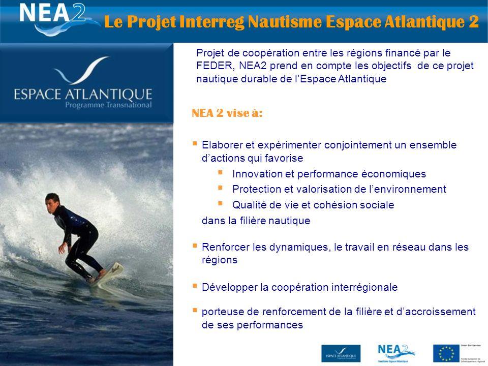 Le Projet Interreg Nautisme Espace Atlantique 2
