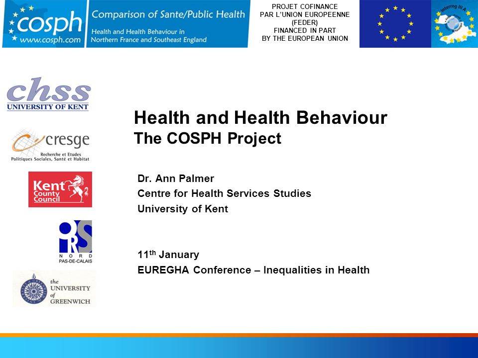 Health and Health Behaviour The COSPH Project