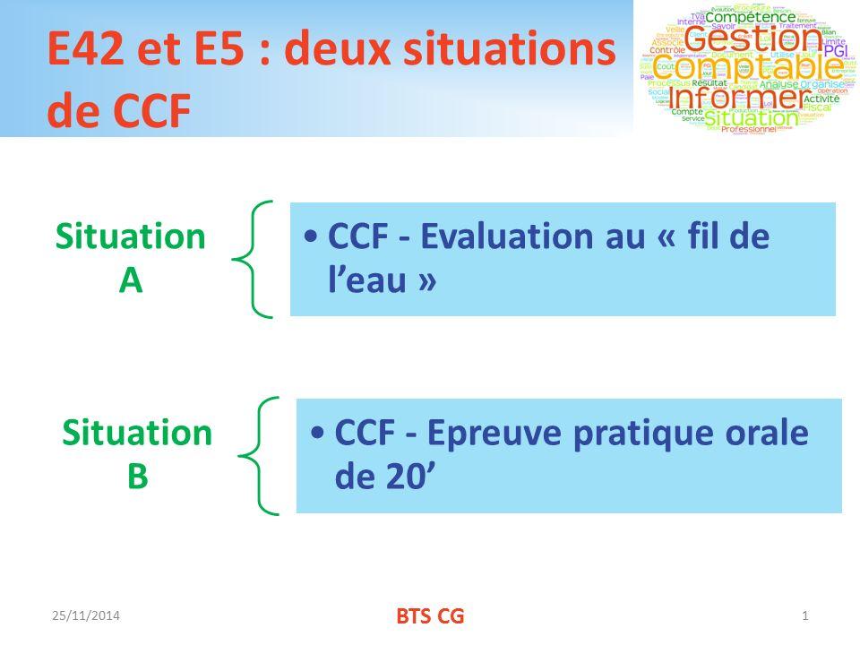 E42 et E5 : deux situations de CCF