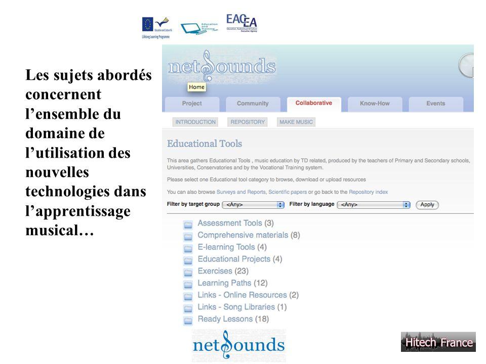 Les sujets abordés concernent l'ensemble du domaine de l'utilisation des nouvelles technologies dans l'apprentissage musical…