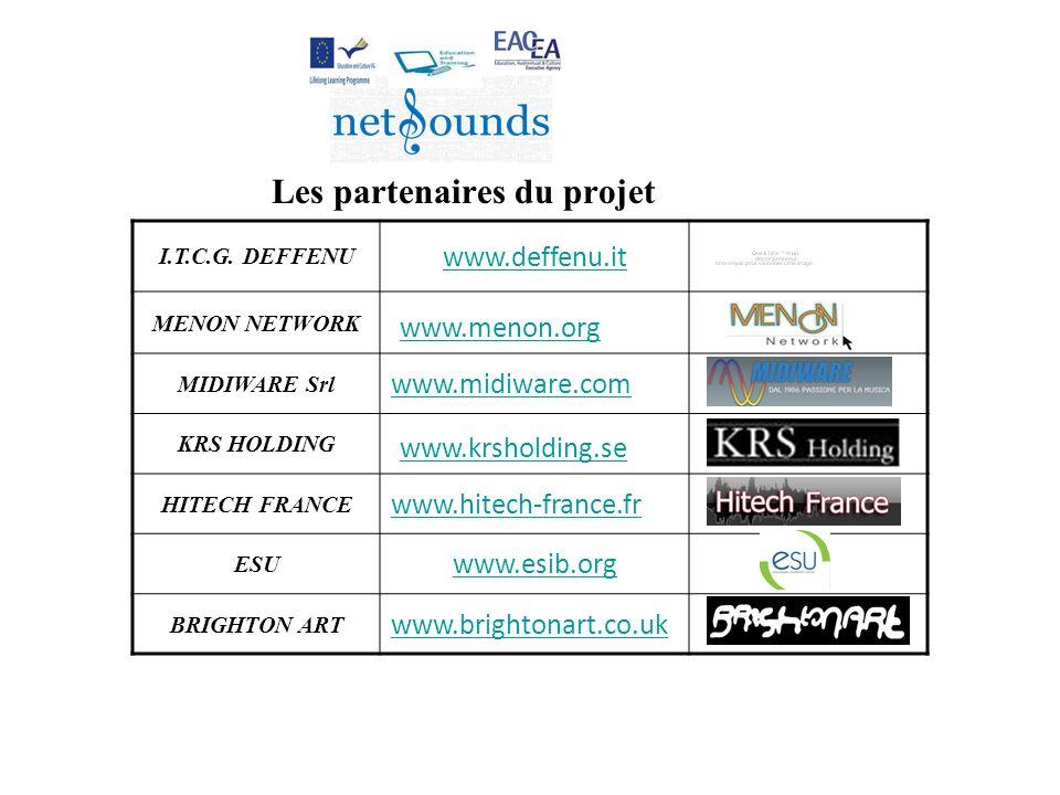 Les partenaires du projet