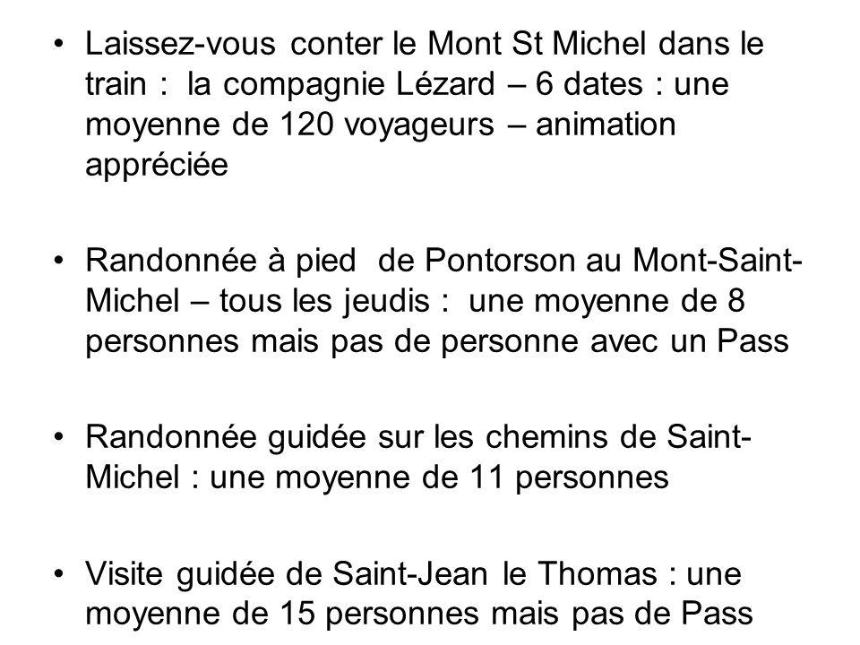 Laissez-vous conter le Mont St Michel dans le train : la compagnie Lézard – 6 dates : une moyenne de 120 voyageurs – animation appréciée