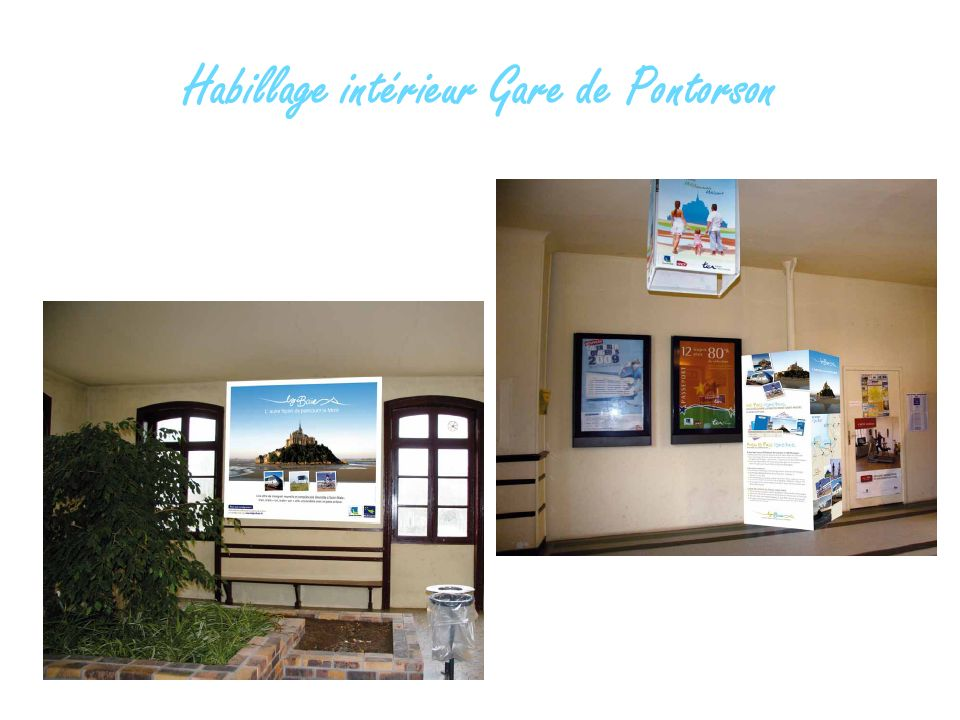 Habillage intérieur Gare de Pontorson