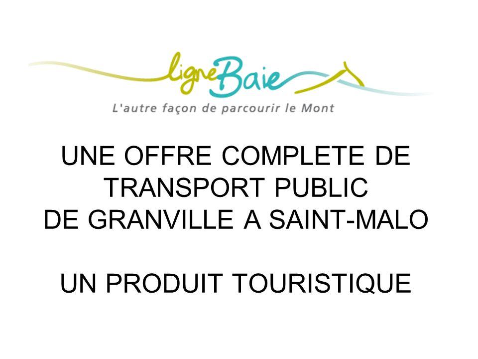 LIGNE BAIE UNE OFFRE COMPLETE DE TRANSPORT PUBLIC DE GRANVILLE A SAINT-MALO UN PRODUIT TOURISTIQUE