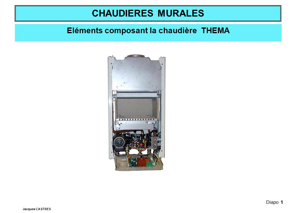 Eléments composant la chaudière THEMA
