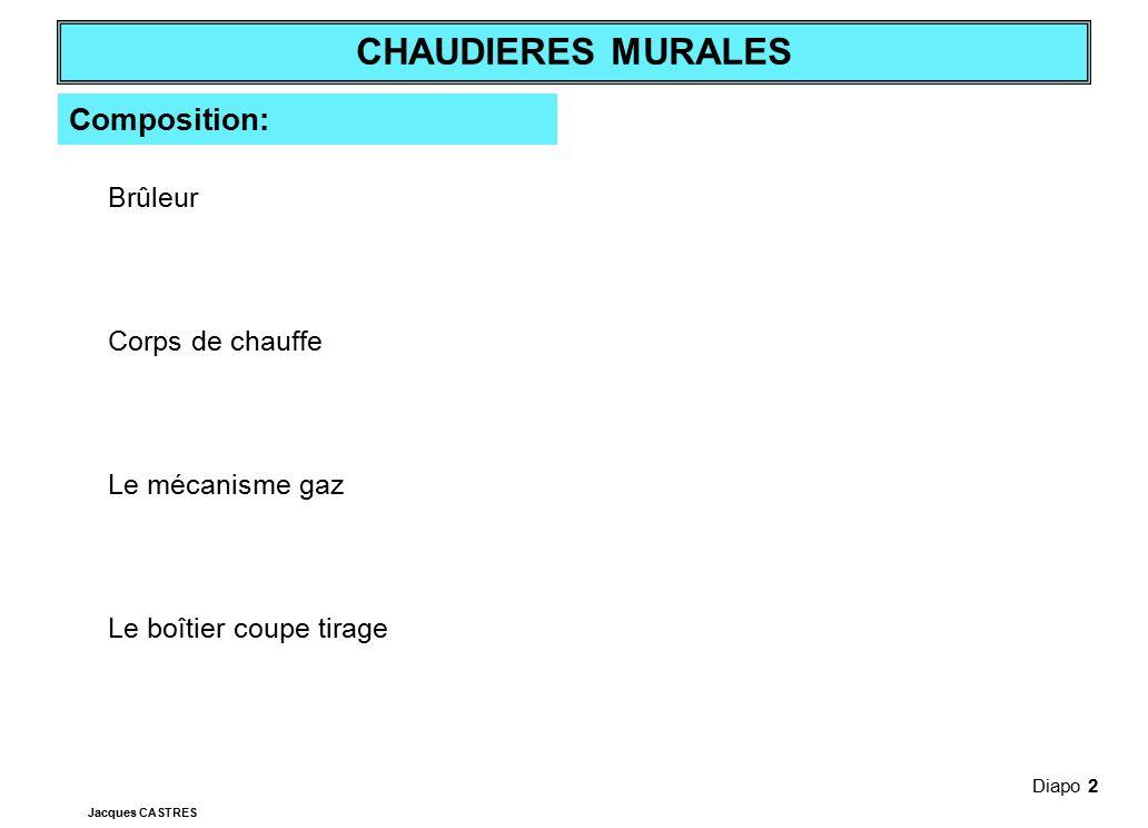 Composition: Brûleur Corps de chauffe Le mécanisme gaz