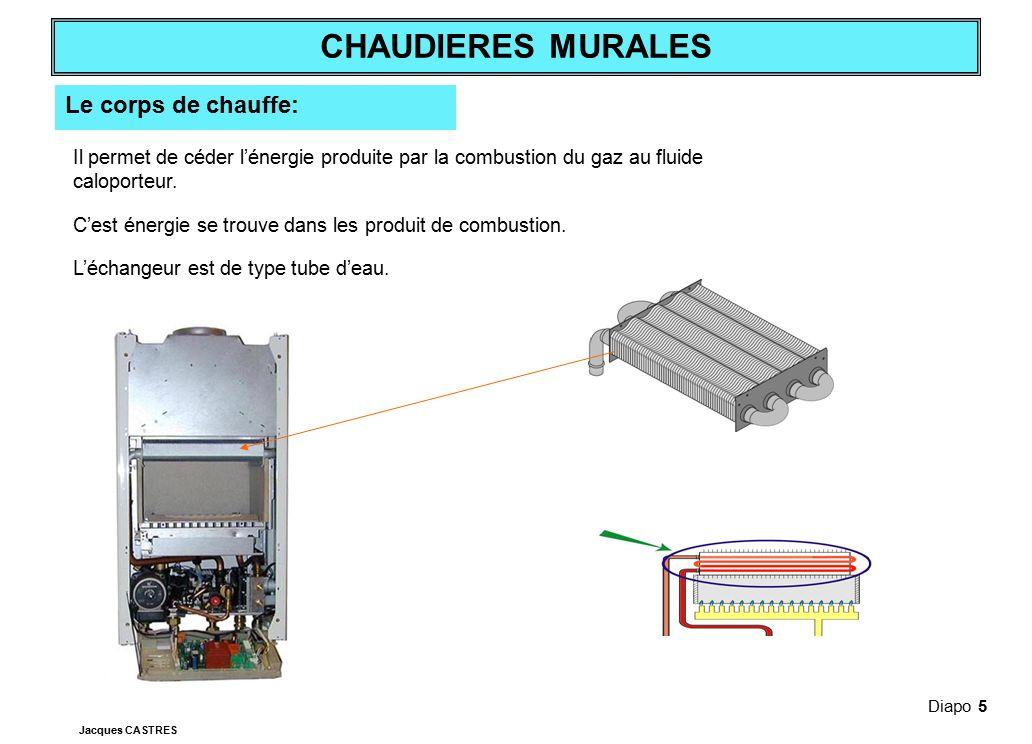 Le corps de chauffe: Il permet de céder l'énergie produite par la combustion du gaz au fluide caloporteur.