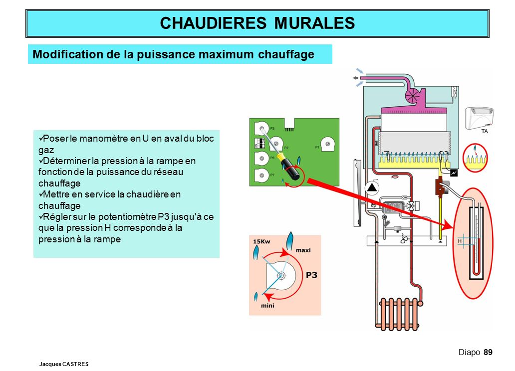 Modification de la puissance maximum chauffage