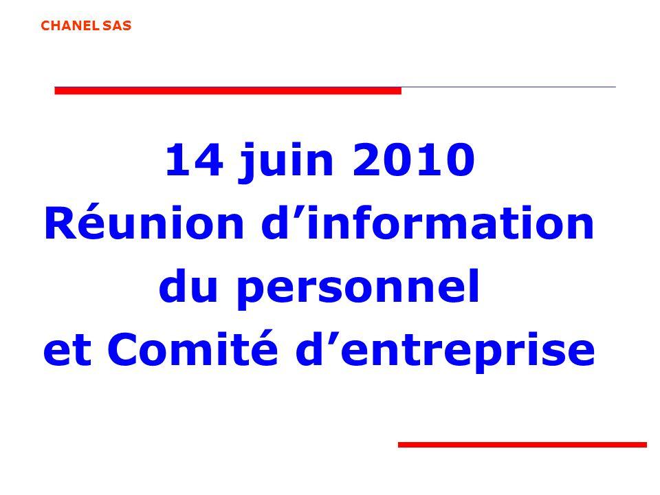 Réunion d'information et Comité d'entreprise