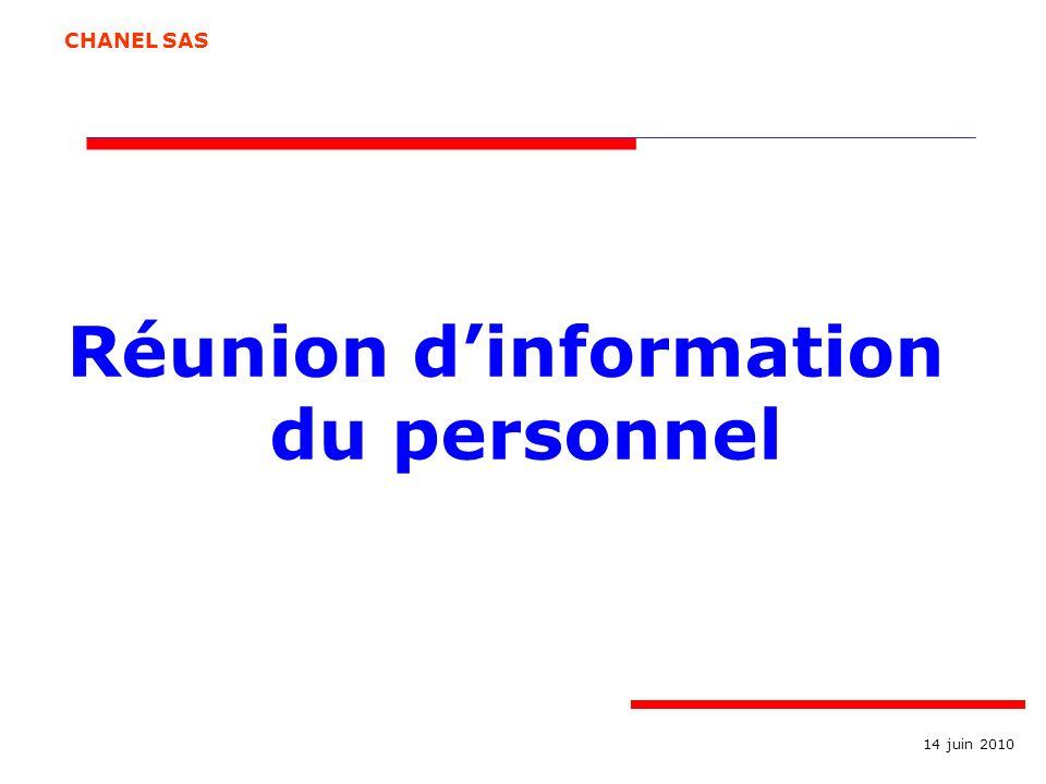 Réunion d'information du personnel