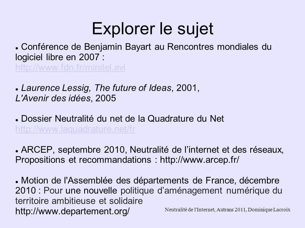 Explorer le sujet Conférence de Benjamin Bayart au Rencontres mondiales du logiciel libre en 2007 : http://www.fdn.fr/minitel.avi.