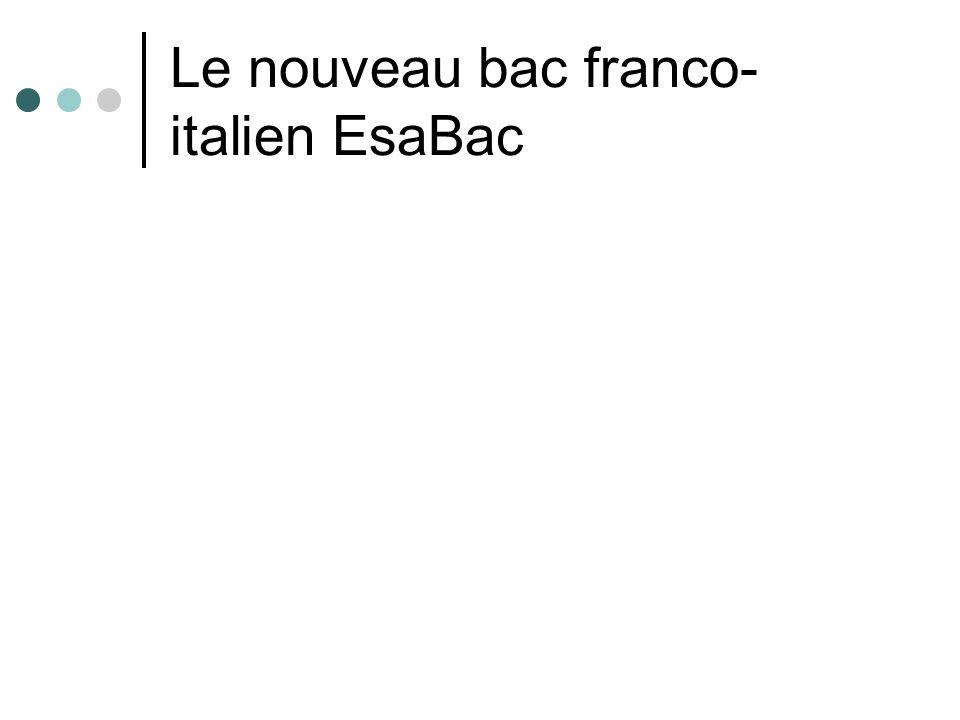 Le nouveau bac franco-italien EsaBac
