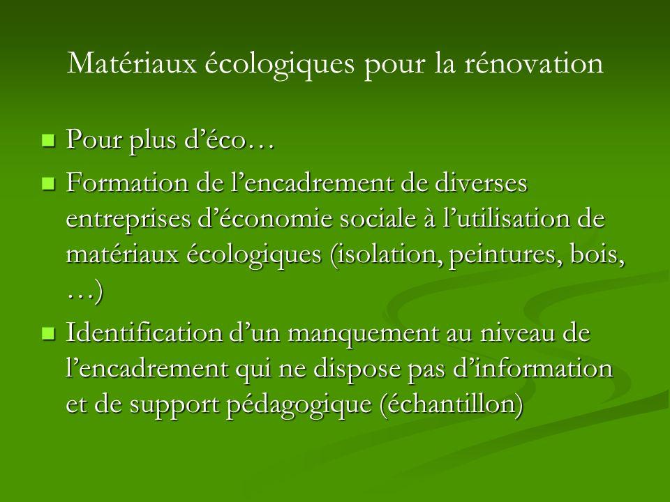 Matériaux écologiques pour la rénovation