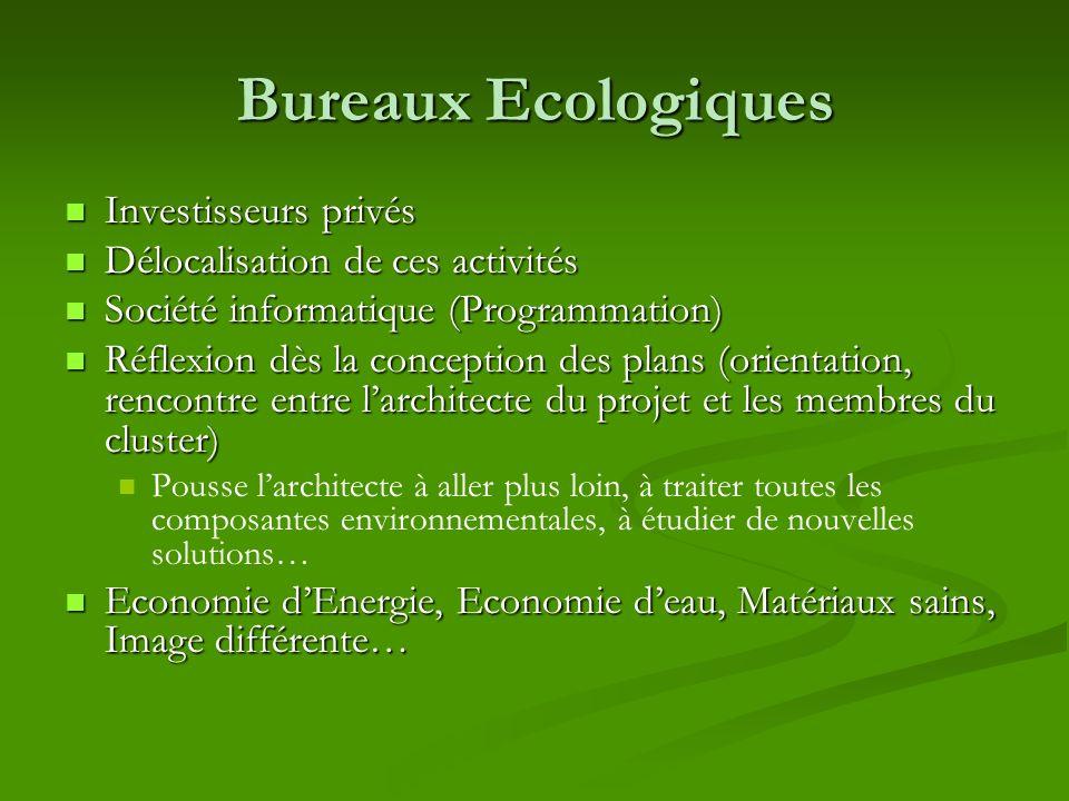 Bureaux Ecologiques Investisseurs privés