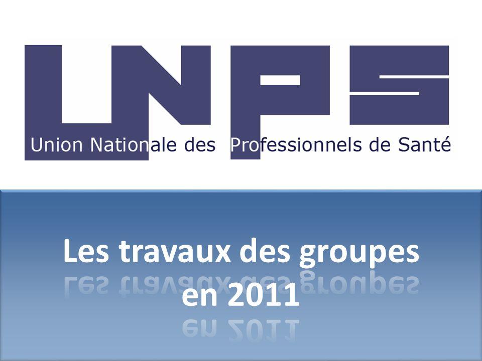 Les travaux des groupes en 2011