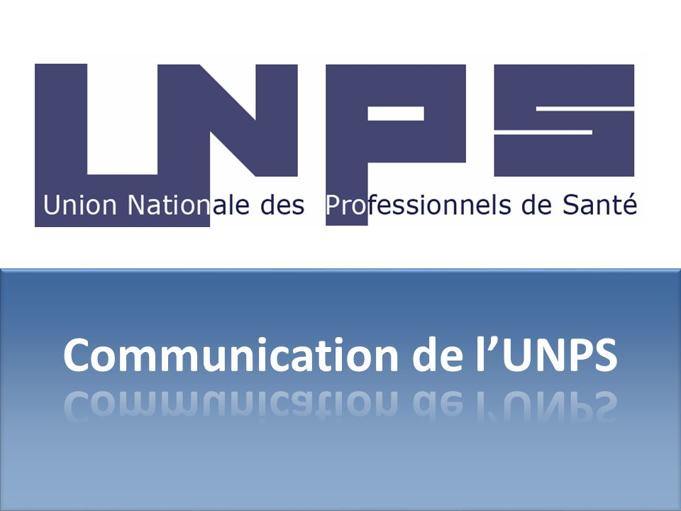 Communication de l'UNPS