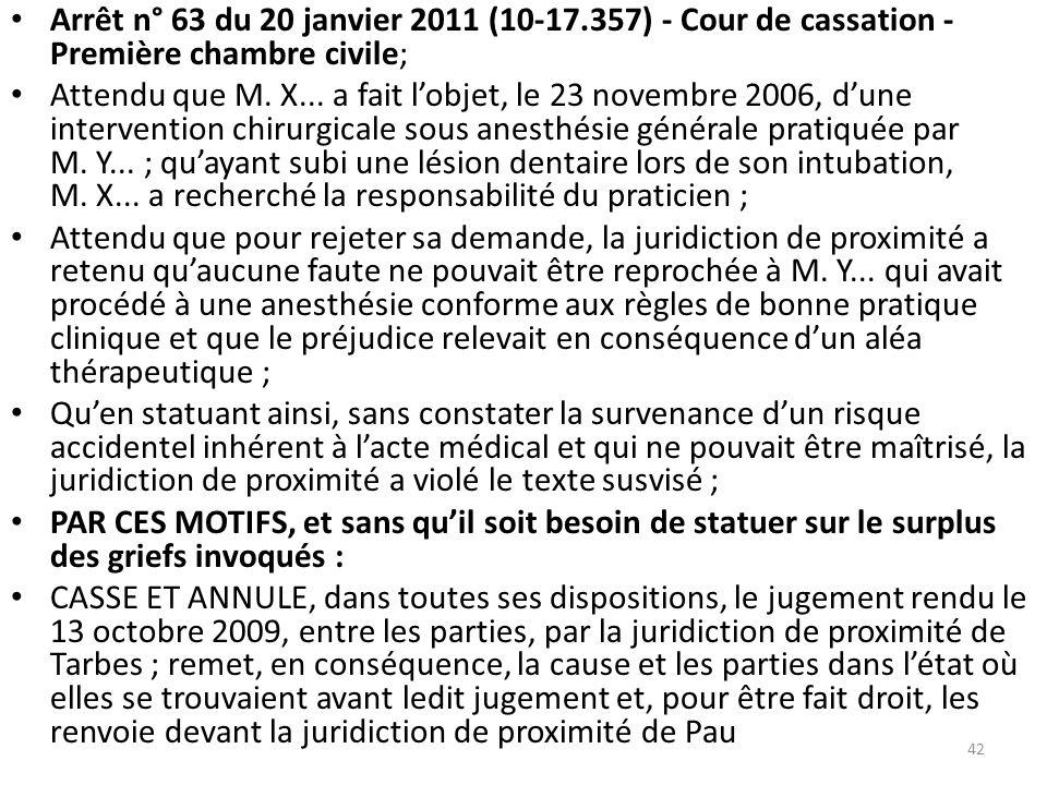 Le principe de responsabilit les diff rentes formes de for Chambre sociale 13 janvier 2009