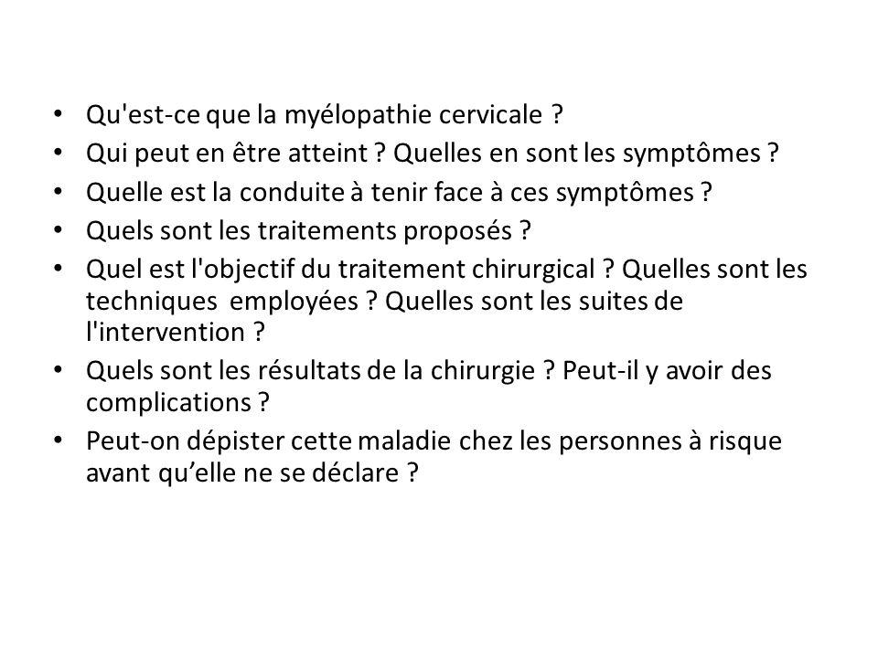cervicale myelopathie forum