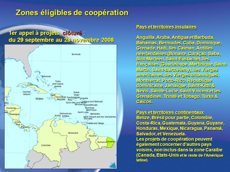 Zones éligibles de coopération